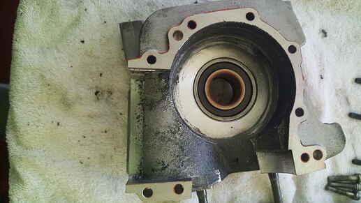 crank case stator half inside