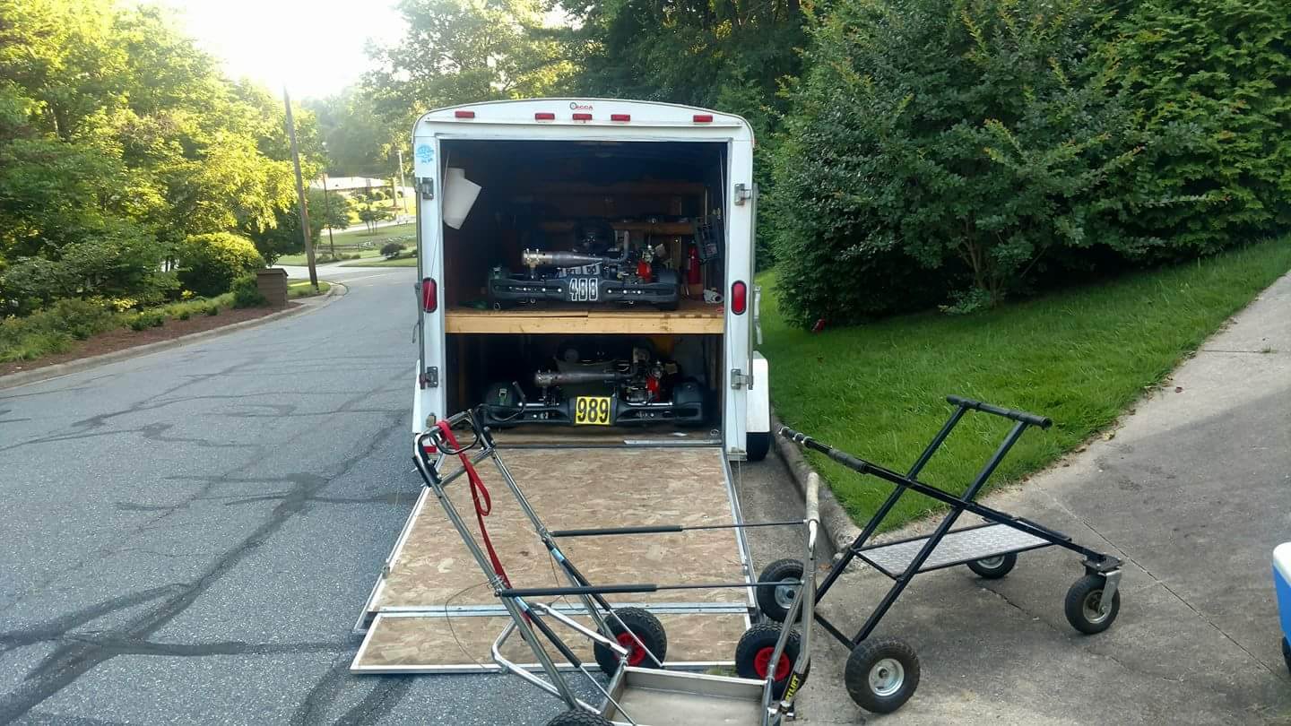 Rolling Tire Storage Rack >> How is your trailer setup? - gettingstarted - KartPulse Forums: Quality Info and Discussion on ...